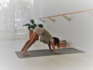 kids yoga australia girl downward dog