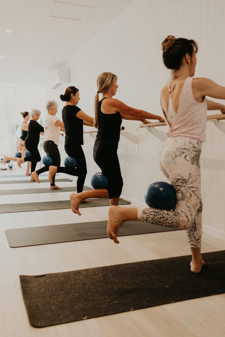 haven yoga barre pilates yin buderim studio ballet mat