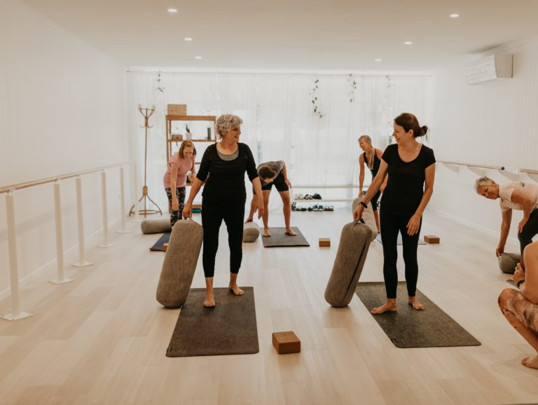 haven yoga barre pilates buderim studio class mat