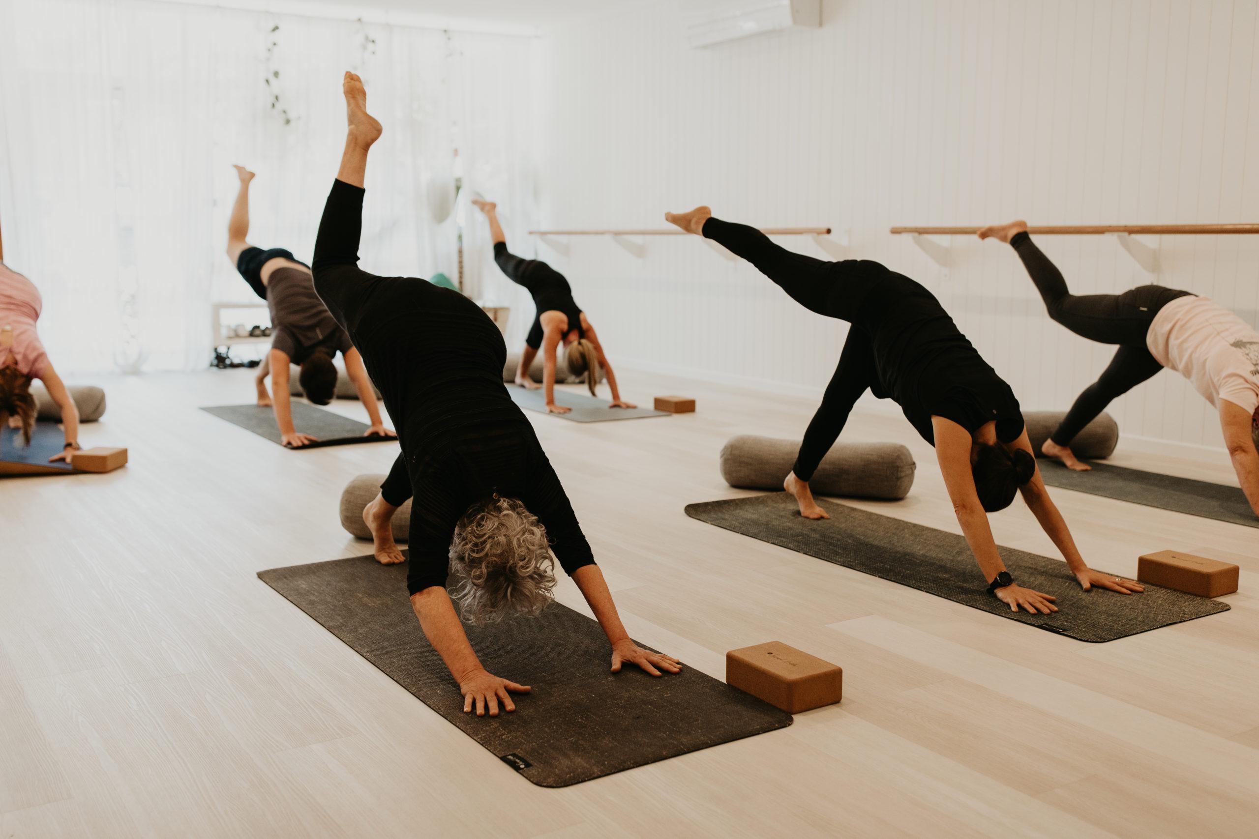 haven yoga barre pilates yin buderim studio class mat
