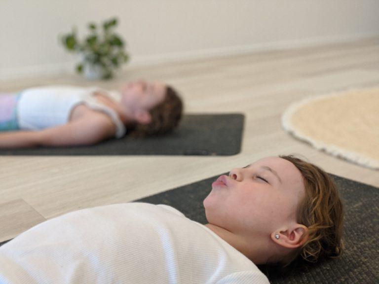 kids yoga sunshine coast girls breathing