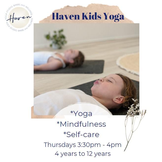 Haven Yoga Studio buderim kids barre classes school retreat workshop sunshine coast mindfulness pilates wellness