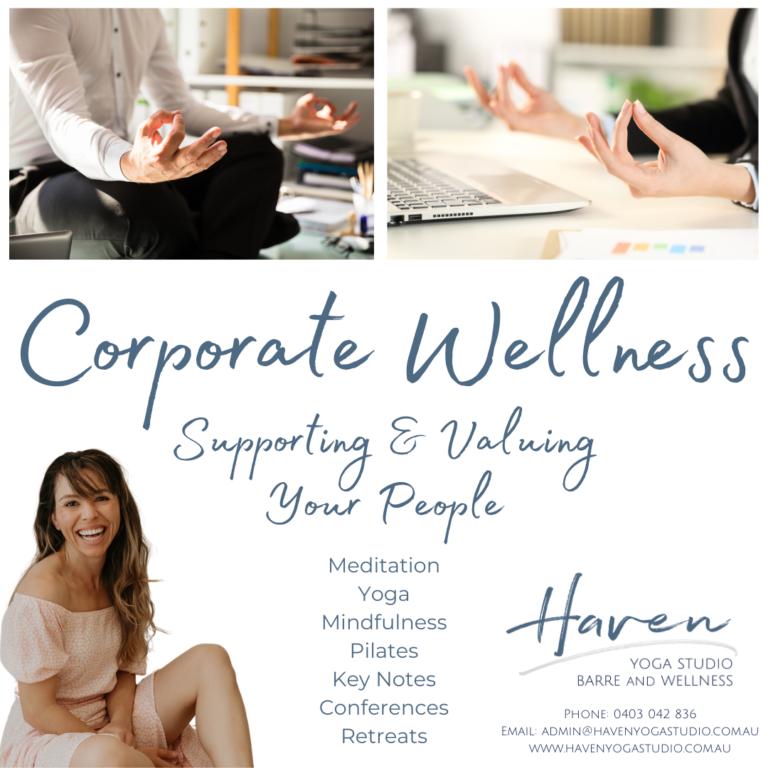 Corporate Wellness with Haven Yoga Studio