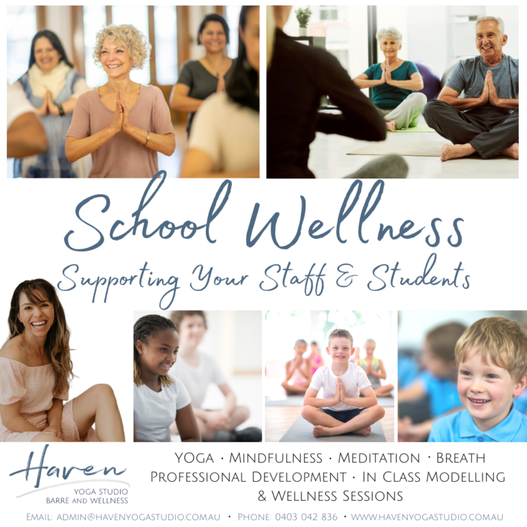 haven yoga meditation mindfulness school student professional development teachers sunshine coast wellness