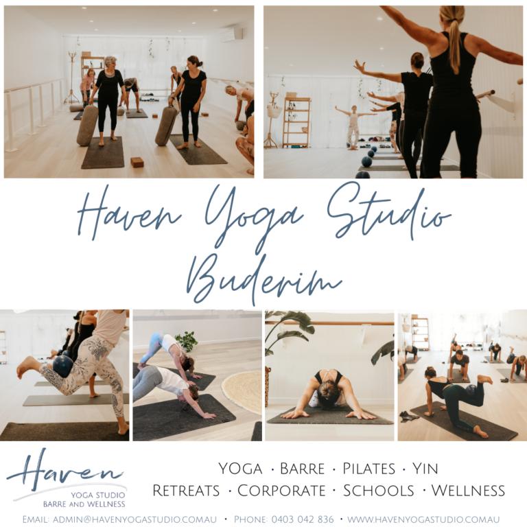 Yoga, Barre, Yin, Pilates and Wellness with Haven Yoga Studio