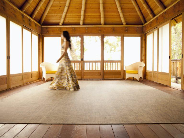 Luxury Yoga Retreat Sunshine Coast Woman walking