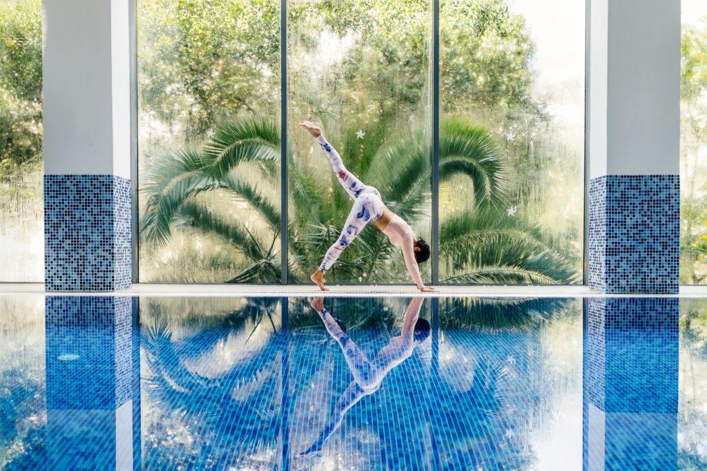 wellness yoga retreat sunshine coast pool