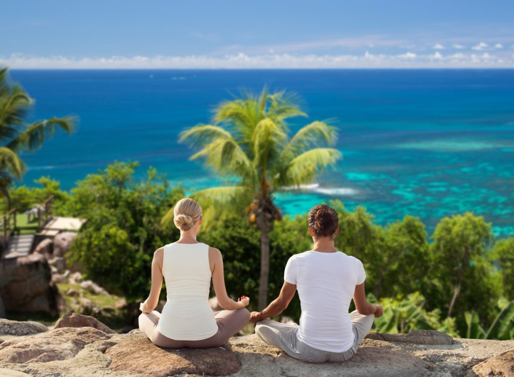 yoga wellness retreat qld queensland couple outdoors mooloolaba