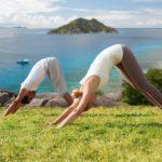 yoga retreat wellness sunshine coast beach downward dog