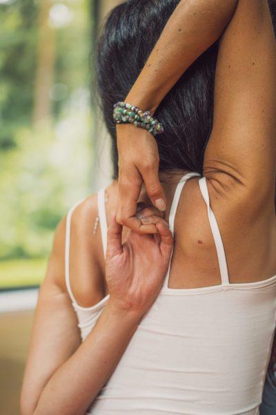 yoga wellness retreat queensland woman arms