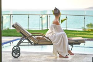 yoga wellness retreat qld queensland woman relaxing champagne