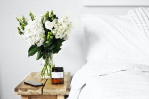 yoga wellness retreat qld bed flowers